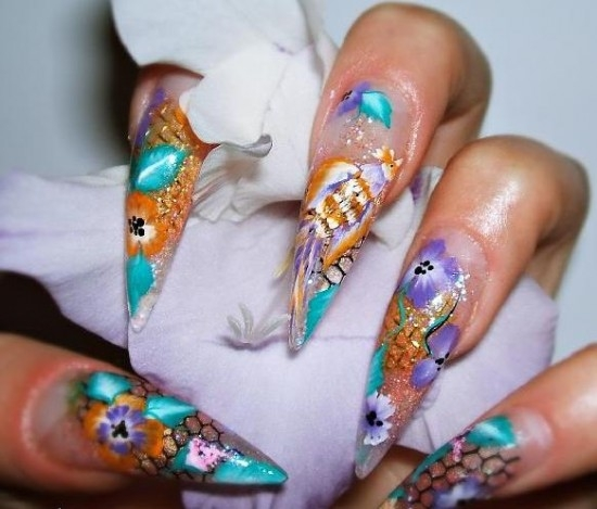 Hangover part 2 fun nail art designs from design nail arts nail art designs which feature a hand painted details are the hottest and newest trend especially when it comes to gelacrylic nails prinsesfo Gallery