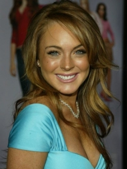 Lindsay Lohan Brown hair