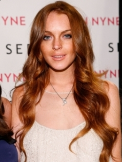 Lindsay Lohan red hair