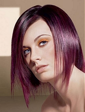 Purple Hair Color Bob Hairstyles