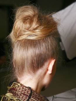 Back View of the Lanvin Updo