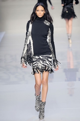 Blumarine fall 2010 zebra prints