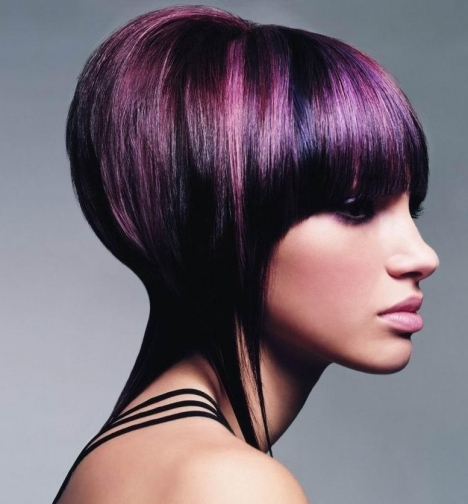 Purple Hair Color Ideas for Short Hair