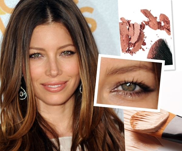Jessica Biel nude makeup/Getty Images