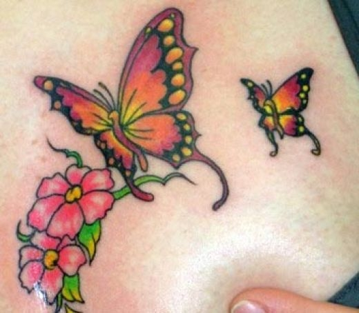 Colorful Butterfly Tattoo. Butterfly Tattoo Designs