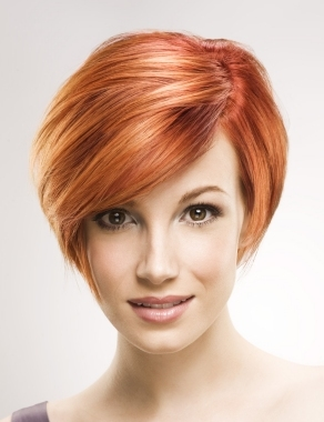 Light Red Hair Short Hairstyles for Women Over 40