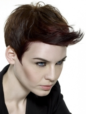 flipped over short hairstyle