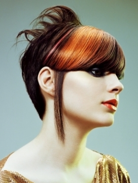multi colored hairstyle