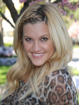 Ashley Roberts Braid Bangs