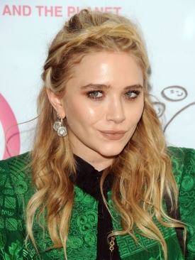 Mary Kate olsen Braided Bangs Hairstyle