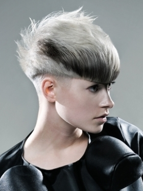 asymmetrical short hairstyle