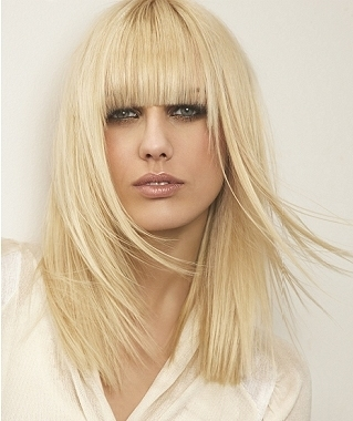 chic blunt bangs long hair styles blunt bangs on oval face 2013 319x380