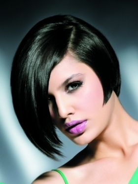 Inverted or concave bob hairstyles