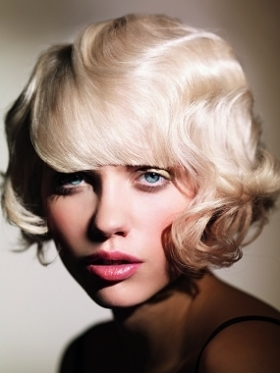 vintage waves bob hairstyle
