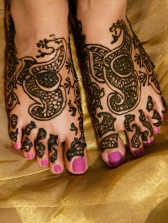 Henna Tattoos Feet