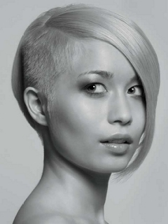 side-shaven head short hair