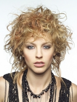 Edgy Short Curly Hairstyle