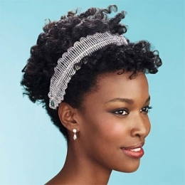 Afro Curly Bridal Hair
