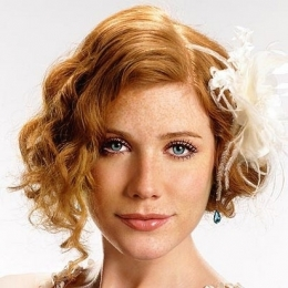 Curly Bob for Wedding Hairstyle