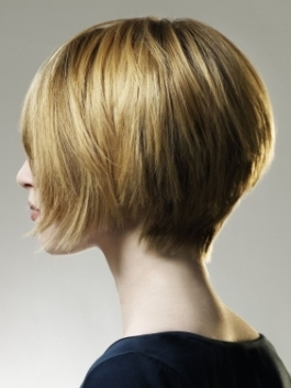 Back View of Short Layered Bob Hairstyle