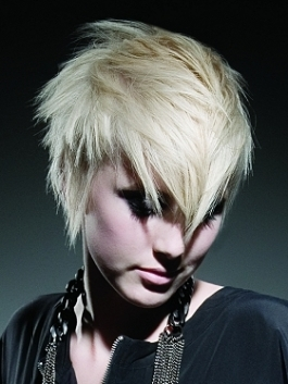 Short Razor Cut Hairstyle