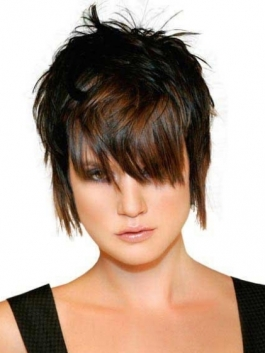 Short Layered Shag Hairstyle