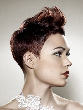 flipped short hairstyle