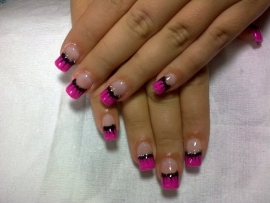 neon french tip nails