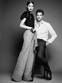 Olivia Palermo and Johannes Huebl Model for Mango