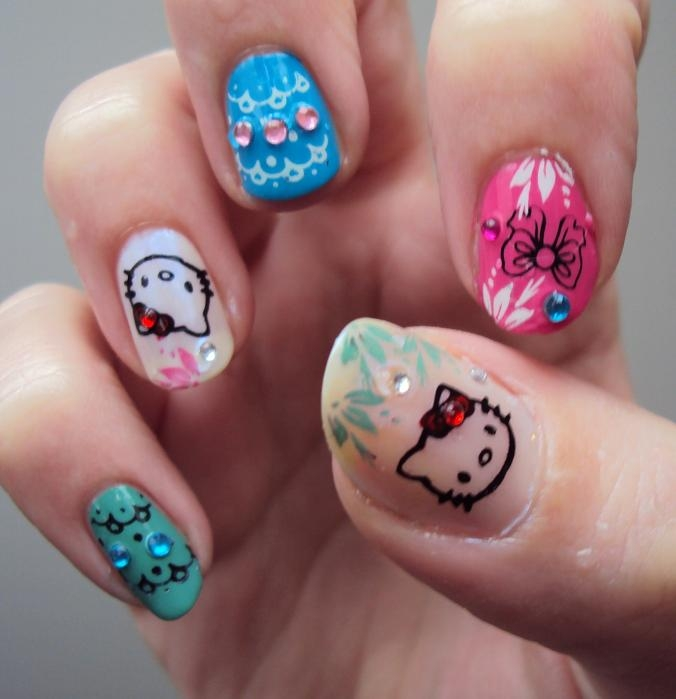 Adorable Nail Art: Hello Kitty Nail Art Ideas