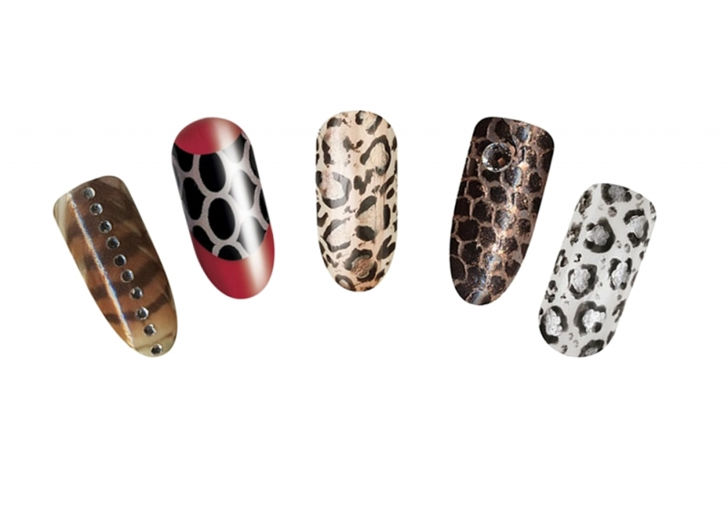 tiger print tattoo designs. rihanna tiger print nails