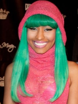 Nicki Minaj Green Hairstyle