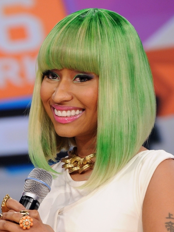Nicki loves her sleek straight hair and you can observe this by looking at