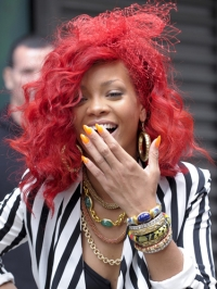 Rihanna - Reason for Red Hair Color