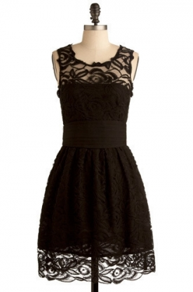 Black Lace Party Dresses