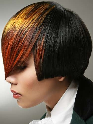 Auburn Hair with Naturally Lifted Highlights Orange looks just fantastic