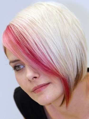 highlights for brown hair 2010. pink hair highlights in rown