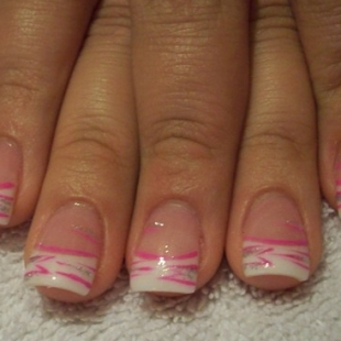 Simple Nail Designs with stripes