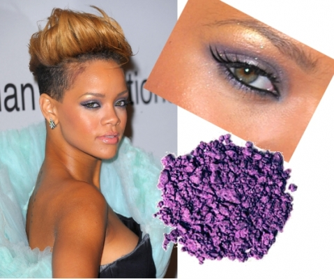 Purple makeup is one of the hottest eyeshadow color you can choose if you want to make your eyes pop. You can select a lavender or a deep purple eyeshadow depending on personal preference and occasion. The eyelashes can be coated using a black mascara to help complete the look. <br />Create a perfect looking skin using a concealer and foundation for a natural flawless look and enhance your lips with a lip colored or clear lip gloss. Rihanna adopted a purple eye makeup look and she managed to show just how much this makeup can help enhance your beauty!