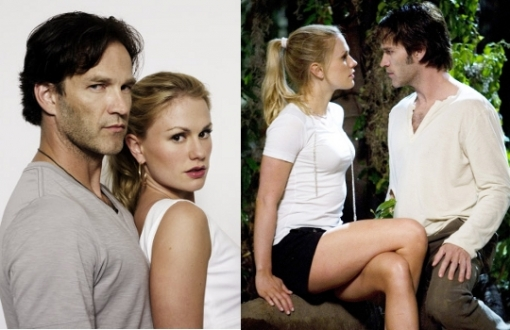 True Blood is undoubtedly one of the most popular series starring one of the most sought-after real life couple in Hollywood. Anna Paquin and Stephen Moyer turned their on screen vampish romance into reality and finally marriage. The young actress managed to mesmerize the public with her eerie beauty and sex-appeal whether Stephen Moyer indeed portrays the role of a real heart-breaker with that sultry and mysterious charm. More than probably chemistry was the sparkle that turned this TV couple into a real couple.<br />