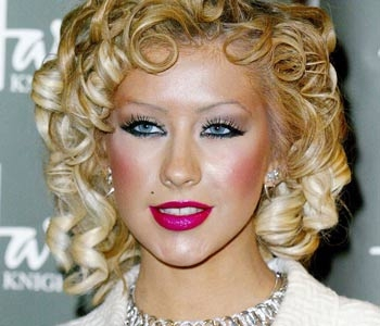 Christina Aguilera Orange Face