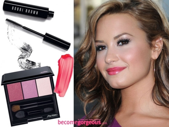 Demi Lovato Pink Makeup Look