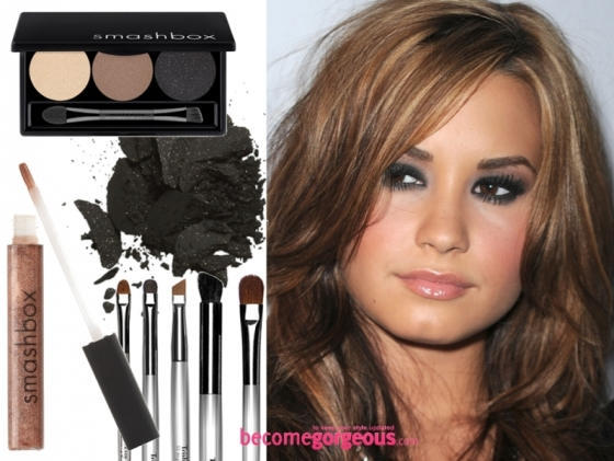 Demi Lovato Smokey Eyes Makeup Look