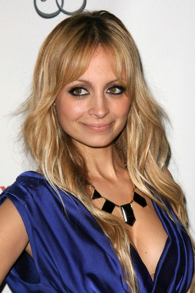 nicole richie nose job. nicole richie long blonde hair