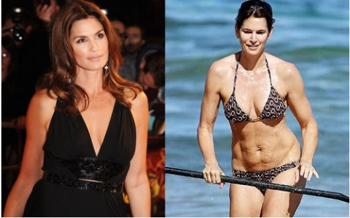 <br />The ex supermodel is proud of her fitness videos as well as healthy lifestyle however it seems that cellulite is present also in her life as a real problem. Take a look at this not so flattering Cindy Crawford bikini body.<br /><br />