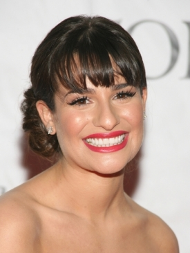 Lean Michele Updo with Bangs