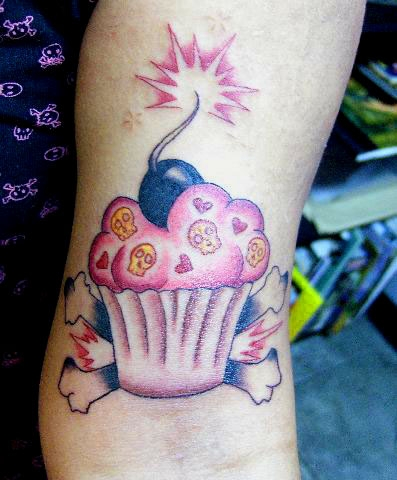 In the case of cupcakes, one of the most popular scene tattoo designs can be