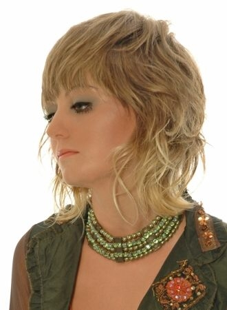 medium wavy shag hairstyles