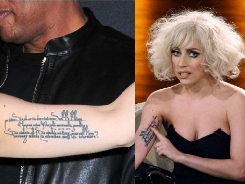 lady gaga quote tattoo. as celebrities are seen