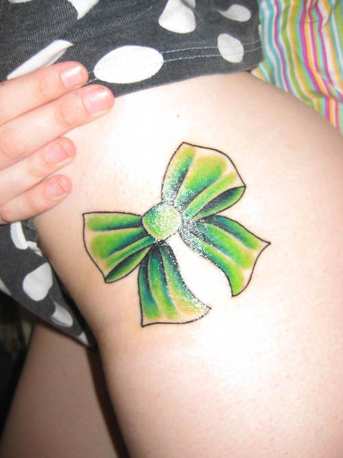 bow tattoo designs. Flirty Bow Tattoo Designs